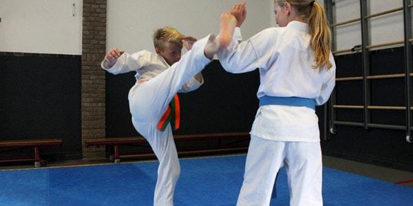 Karate voor kinderen in Gorinchem - hoge trap