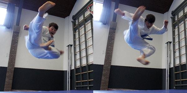 Karate voor kinderen in Gorinchem - vliegende trap
